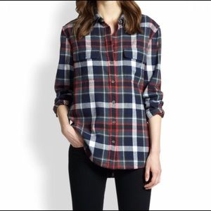 Equipment Plaid Flannel Long Sleeve Button Shirt